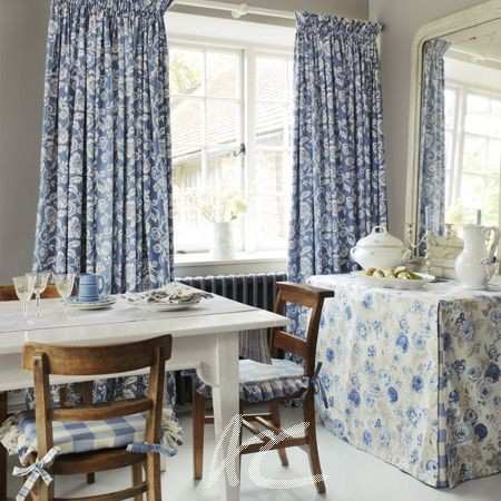 Clarke And Genevieve Eliza Chambray Made To Measure Curtains