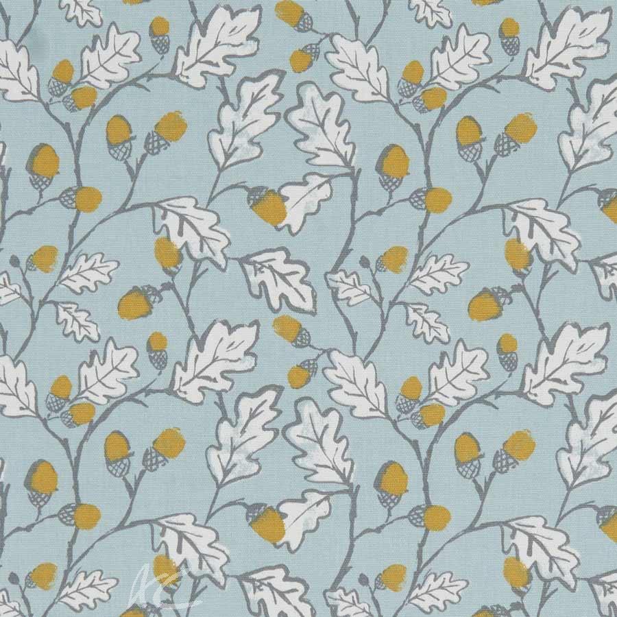 A Land and Sea Acorn Trail Duckegg Curtain Fabric