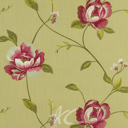 Clarke and Clarke Tatton Linens Alderley Parsley Curtain Fabric