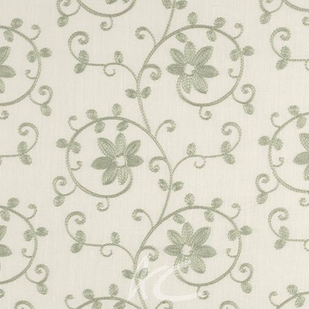 Tatton Linens Ashley Eau De Nil Curtain Fabric