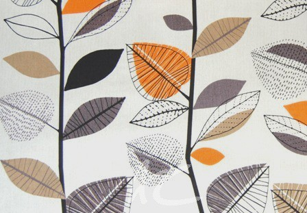 Prestigious Textiles Delamere Autumn Leaves Amber Made to Measure Curtains