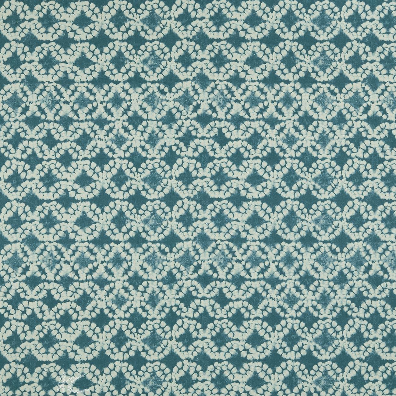 Clarke and Clarke Batik Clarke and Clarke Batik Aqua Curtain Fabric