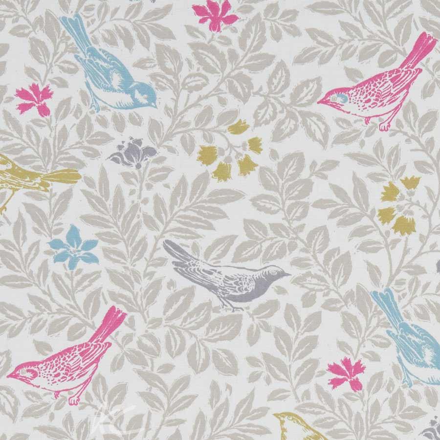 A Land and Sea Bird Song Summer Curtain Fabric