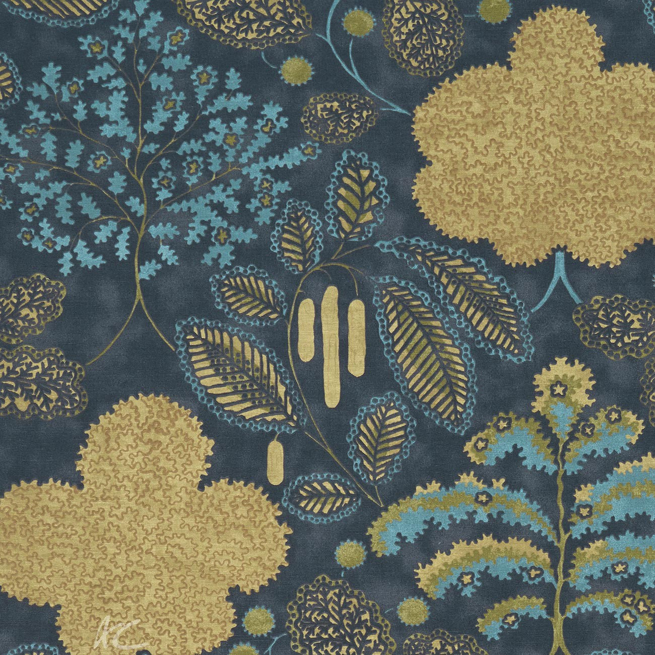 Clarke and Clarke Bloomsbury Antique/midnight Cushion Covers