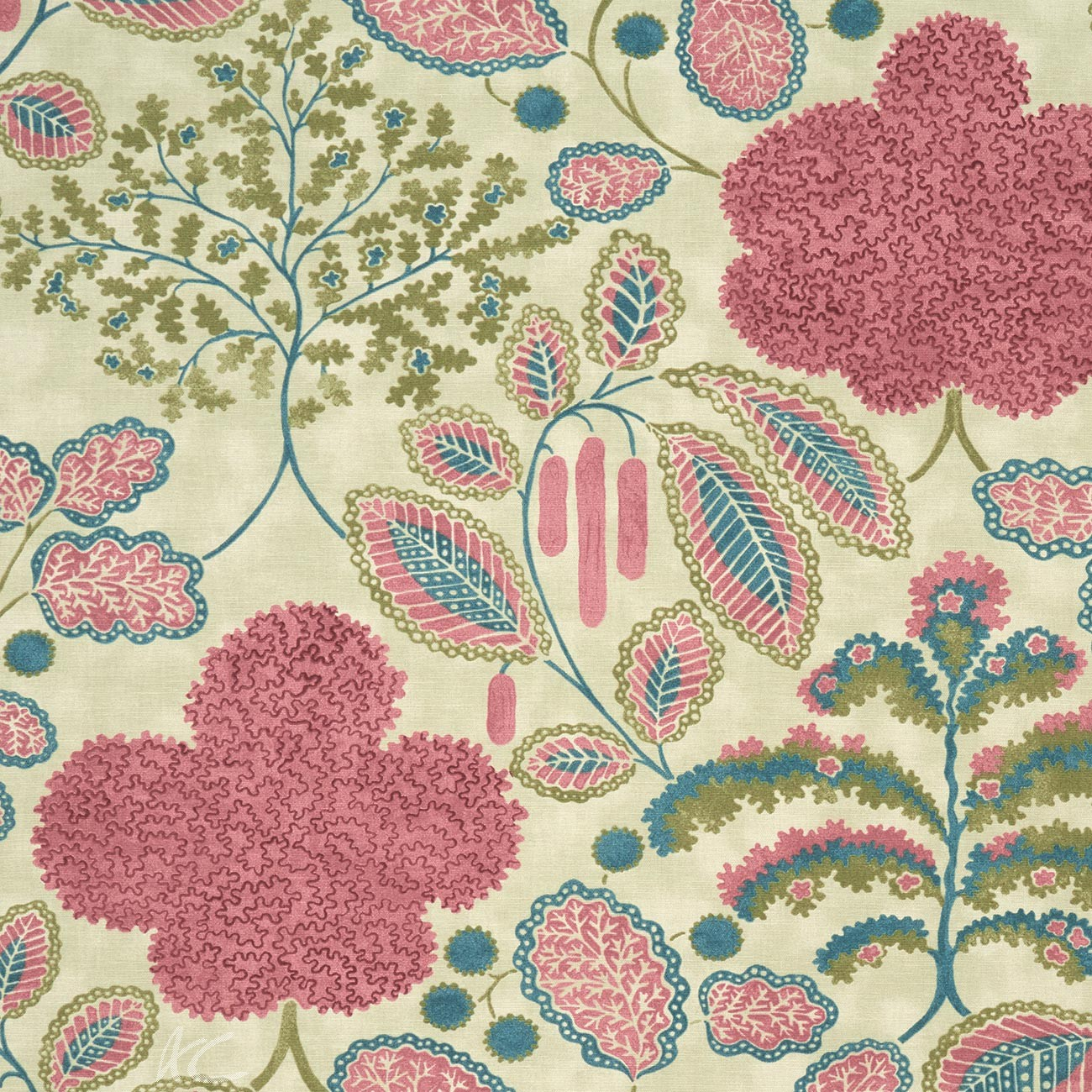 Clarke and Clarke Bloomsbury berry-teal Made to Measure Curtains