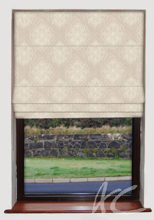 Prestigious Textiles Canvas Brocade Natural Roman Blind