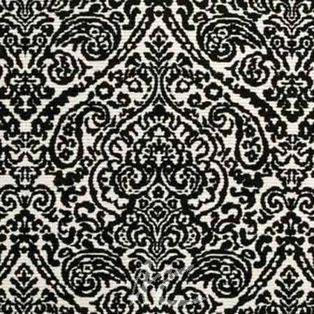 Clarke and Clarke BW1023 Black and White Curtain Fabric