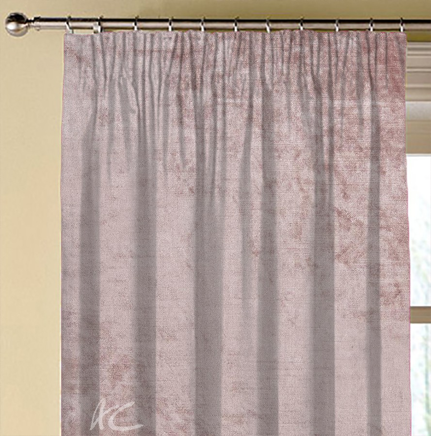 Clarke and Clarke Allure Blush Made to Measure Curtains