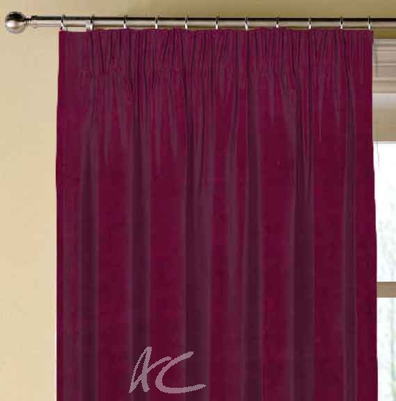 Clarke and Clarke Gustavo Alvar Raspberry Made to Measure Curtains