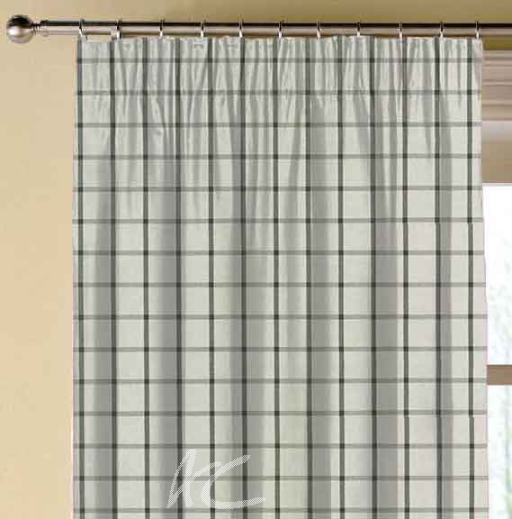 Clarke and Clarke Glenmore Aviemore Charcoal Made to Measure Curtains