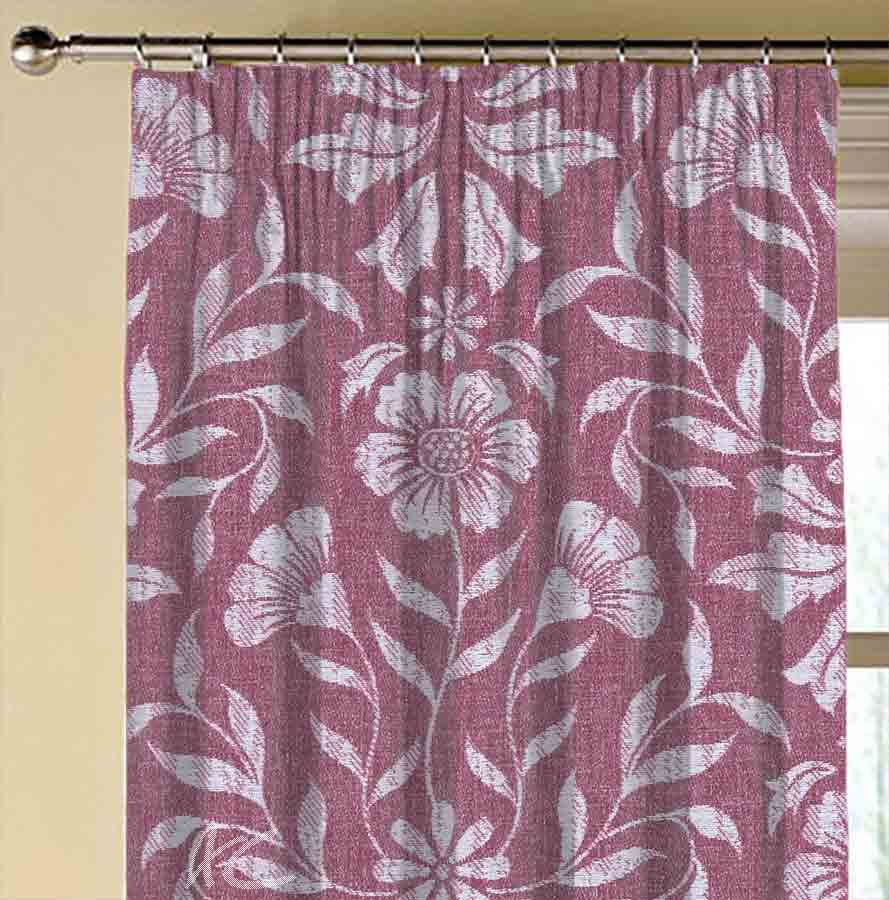 Avebury Berkeley Raspberry Made to Measure Curtains