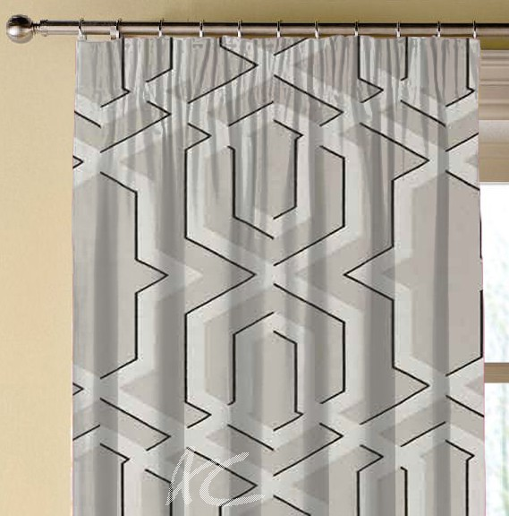 Clarke and Clarke Chateau Boulevard Stone Made to Measure Curtains
