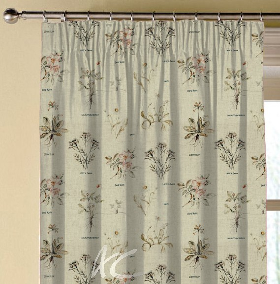 Clarke and Clarke Countryside Botanist Linen Made to Measure Curtains
