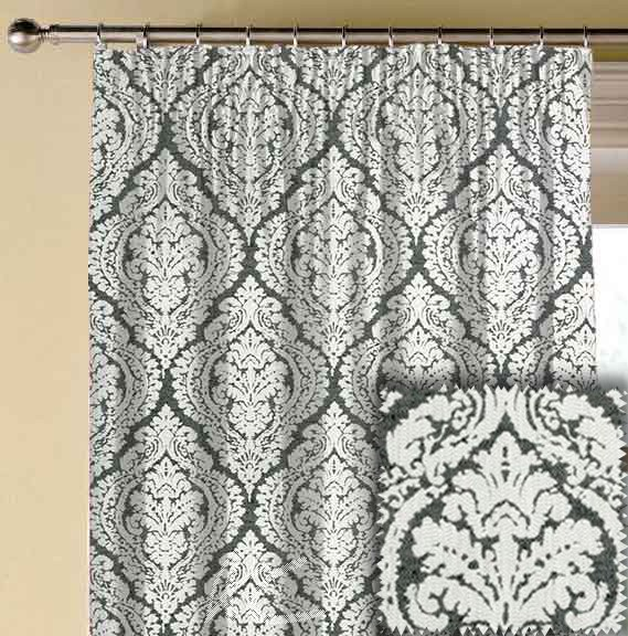 Clarke and Clarke BW1004 Black and White Made to Measure Curtains