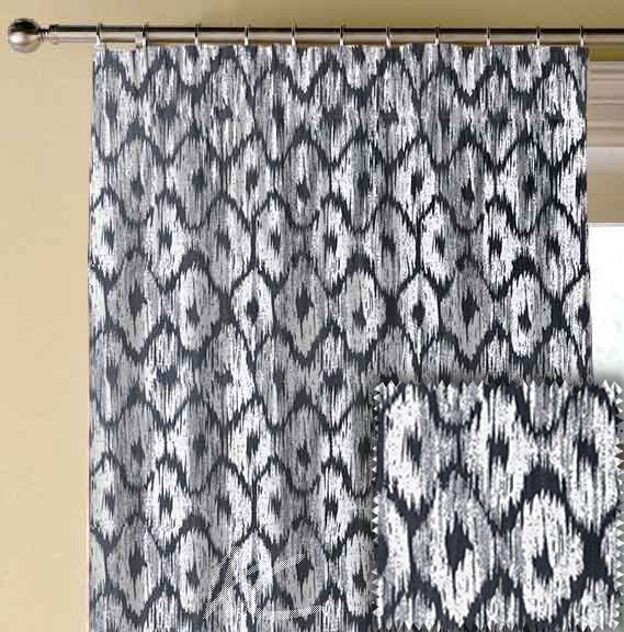 Clarke and Clarke BW1008 Black and White Made to Measure Curtains
