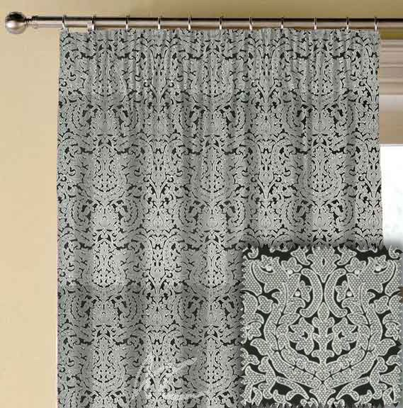 Clarke and Clarke BW1020 Black and White Made to Measure Curtains