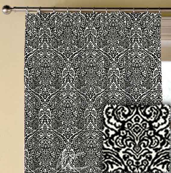 Clarke and Clarke BW1023 Black and White Made to Measure Curtains