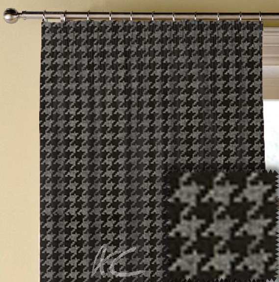 Clarke and Clarke BW1027 Black and White Made to Measure Curtains