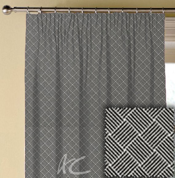 Clarke and Clarke BW1031 Black and White Made to Measure Curtains