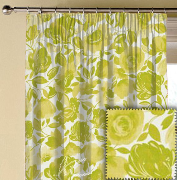 Clarke and Clarke Artbook Caitlin Linen Citrus Made to Measure Curtains