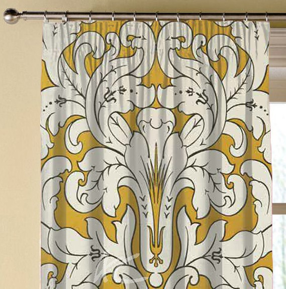 Clarke and Clarke Chateau Chateau Gold Made to Measure Curtains