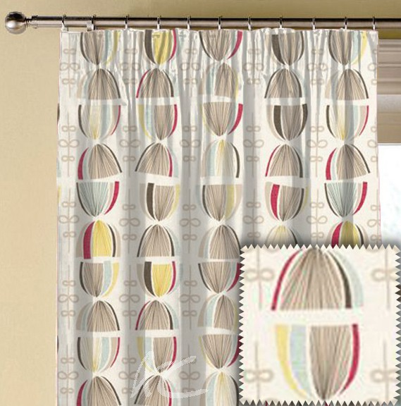 Clarke and Clarke Festival Cosmos Summer Made to Measure Curtains