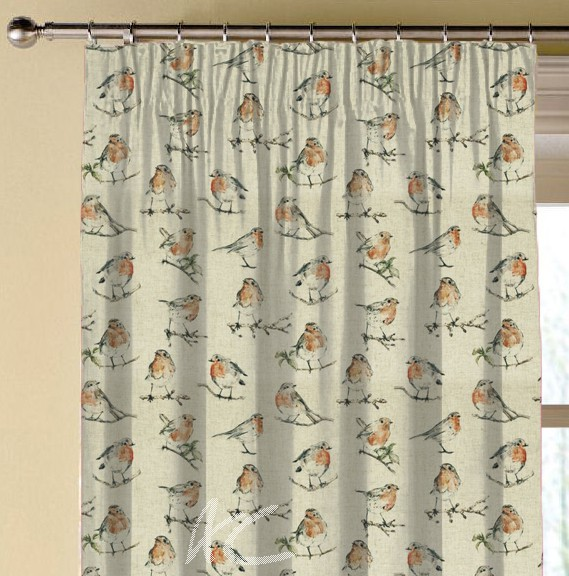 Clarke and Clarke Countryside DawnChorus Linen Made to Measure Curtains
