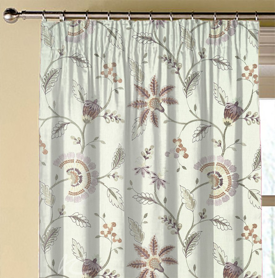 Clarke and Clarke Halcyon Delamere Heather Made to Measure Curtains