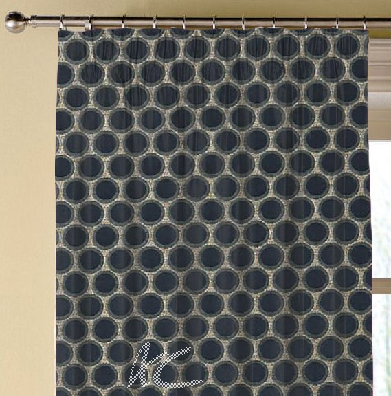 Clarke and Clarke Imperiale Duomo Ebony Made to Measure Curtains