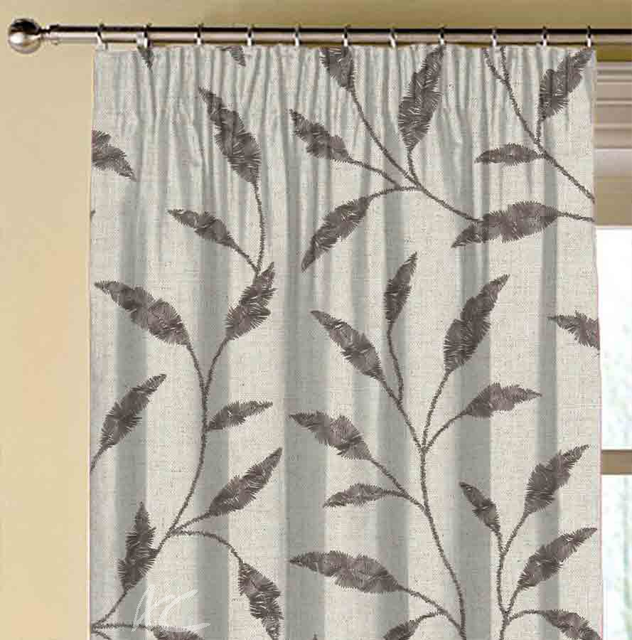 Avebury Fairford Charcoal Made to Measure Curtains