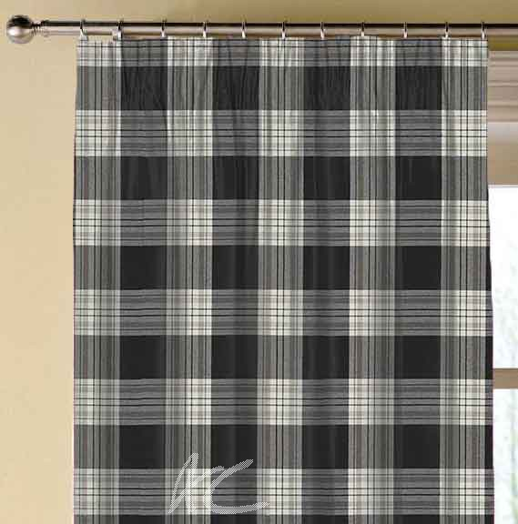 Clarke and Clarke Glenmore Clarke and Clarke Glenmore Charcoal Made to Measure Curtains