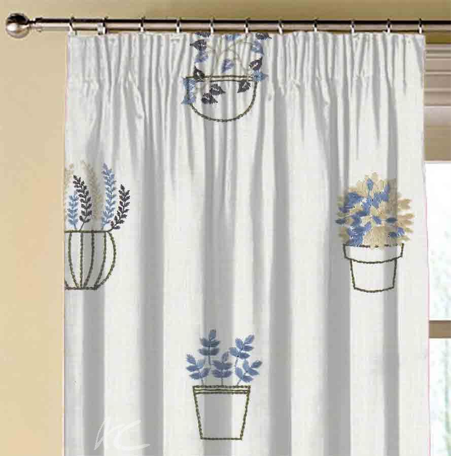 Avebury Hidcote Denim Made to Measure Curtains