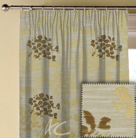Prestigious Textiles Eden Hydrangea Chartreuse Made to Measure Curtains