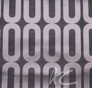 Helix Circuit Onyx Curtain Fabric