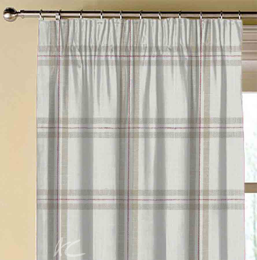 Avebury Kelmscott Raspberry linen Made to Measure Curtains
