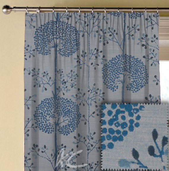 Prestigious Textiles Eden Moonseed Bluebell Made to Measure Curtains