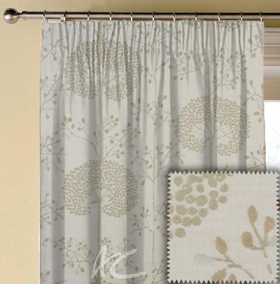 Prestigious Textiles Eden Moonseed Praline Made to Measure Curtains