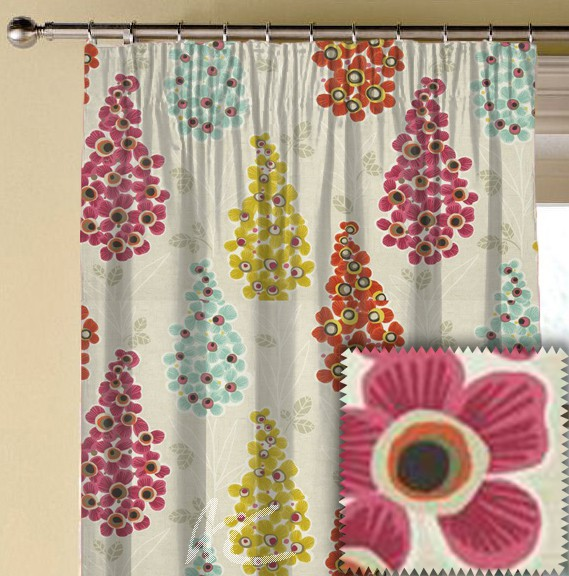 Clarke and Clarke Cariba Mustique Summer Made to Measure Curtains
