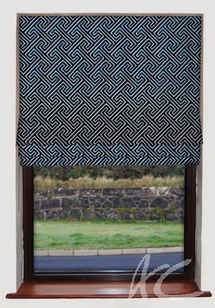 Clarke and Clarke Academy Velvets Cosimo Midnight Roman Blind