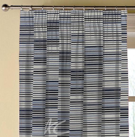 Prestigious Textiles Atrium Parquet Cobalt Made to Measure Curtains