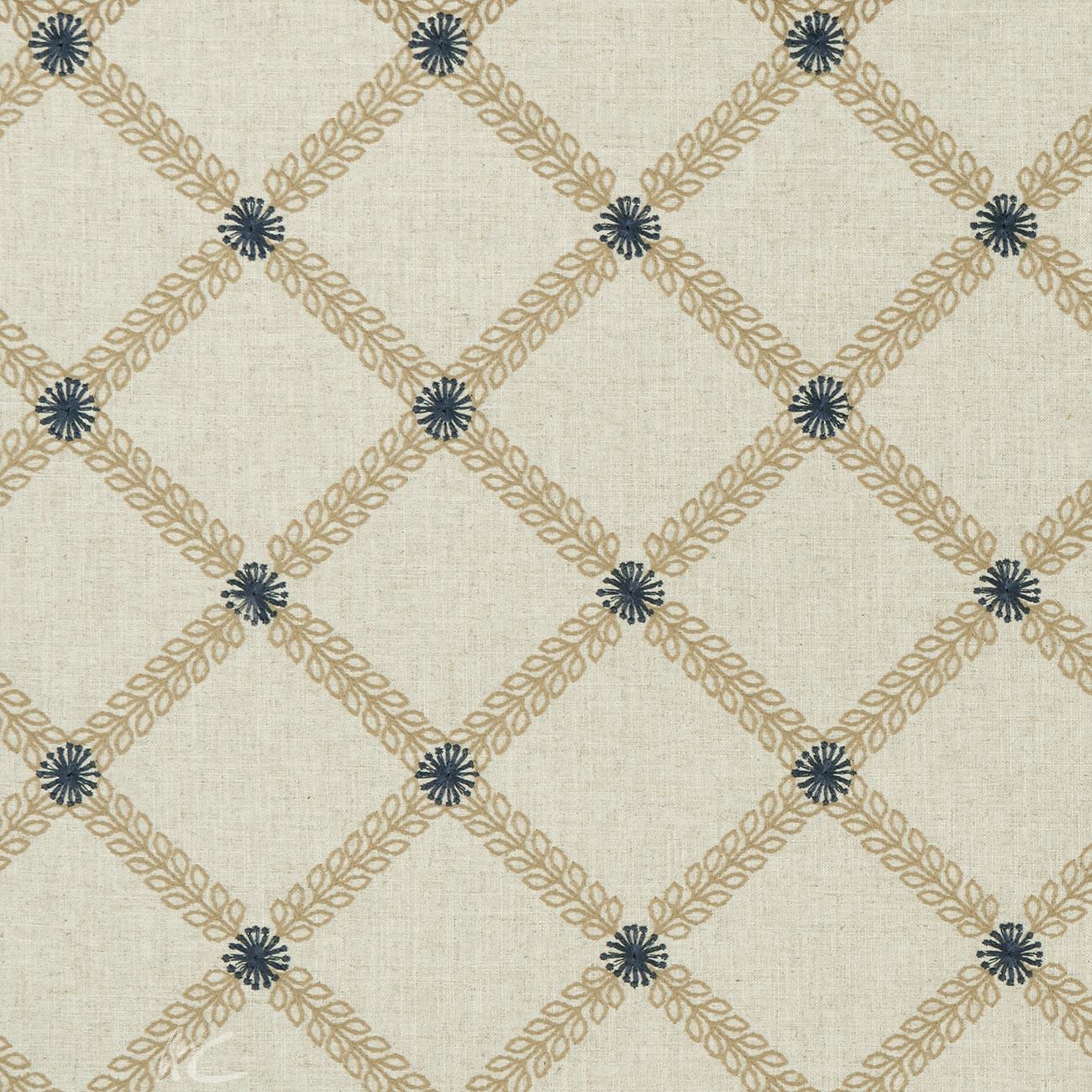 Bloomsbury Cressida Antique/midnight Curtain Fabric