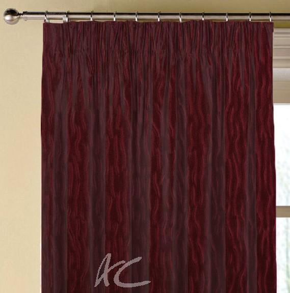 Prestigious Textiles Atrium Ripple Cardinal Made to Measure Curtains