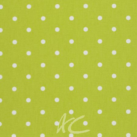 Clarke and Clarke Vintage Classics Dotty Lime Made to Measure Curtains