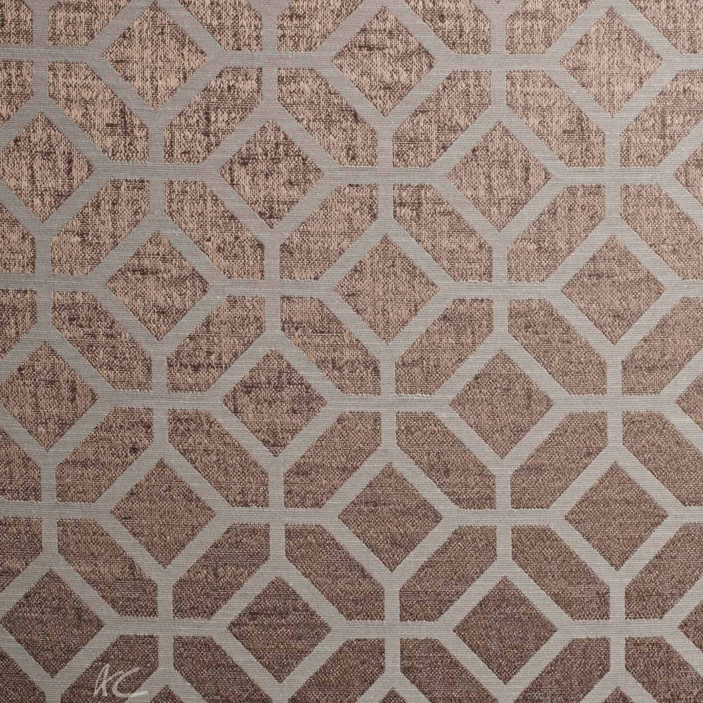 Spectrum Geo Mocha Made to Measure Curtains