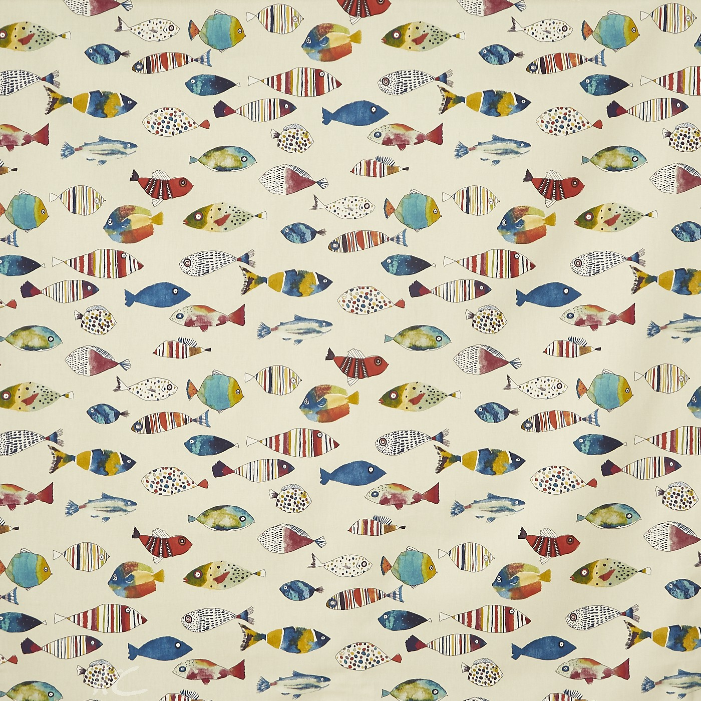 A Prestigious Textiles Beachcomber Gone Fishing Tropical Curtain Fabric