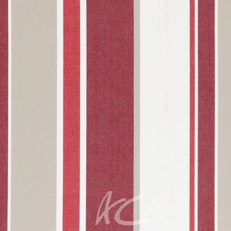 Clarke and Clarke New England Hartford Crimson Curtain Fabric