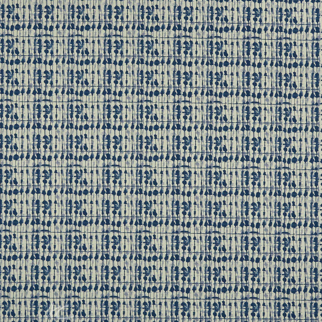 Clarke and Clarke Batik Kediri Indigo  Curtain Fabric