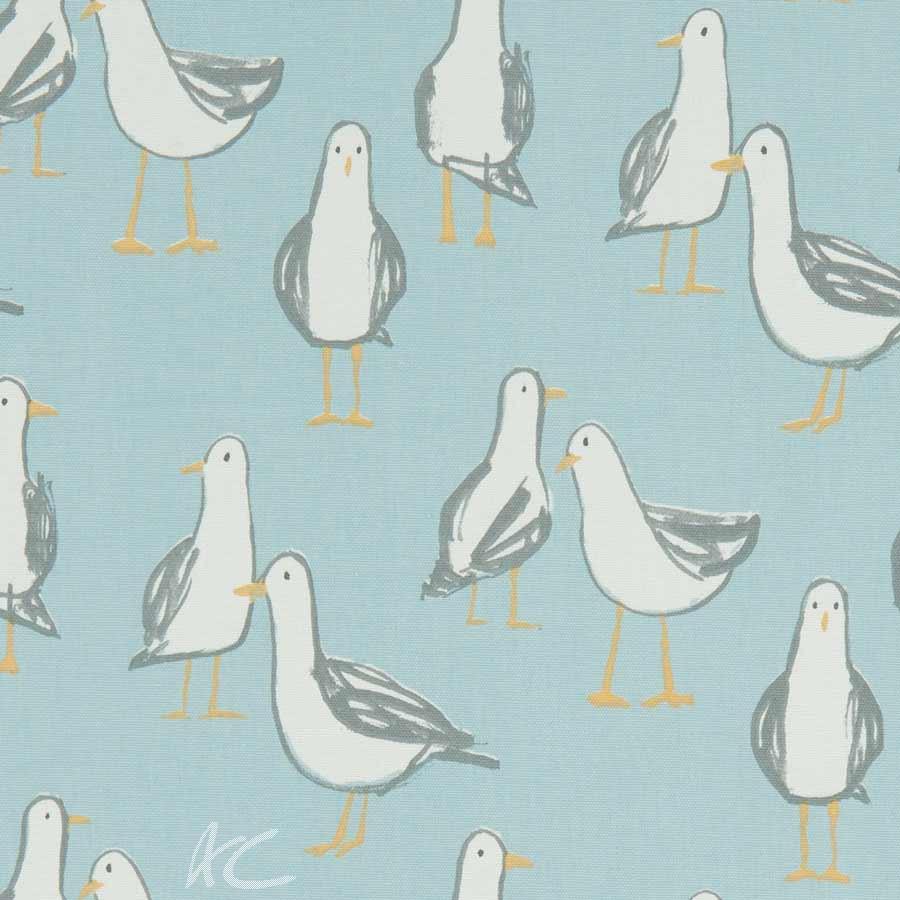 A Land and Sea Laridae Duckegg Curtain Fabric