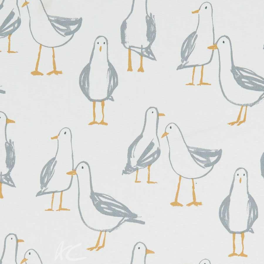 A Land and Sea Laridae Natural Curtain Fabric