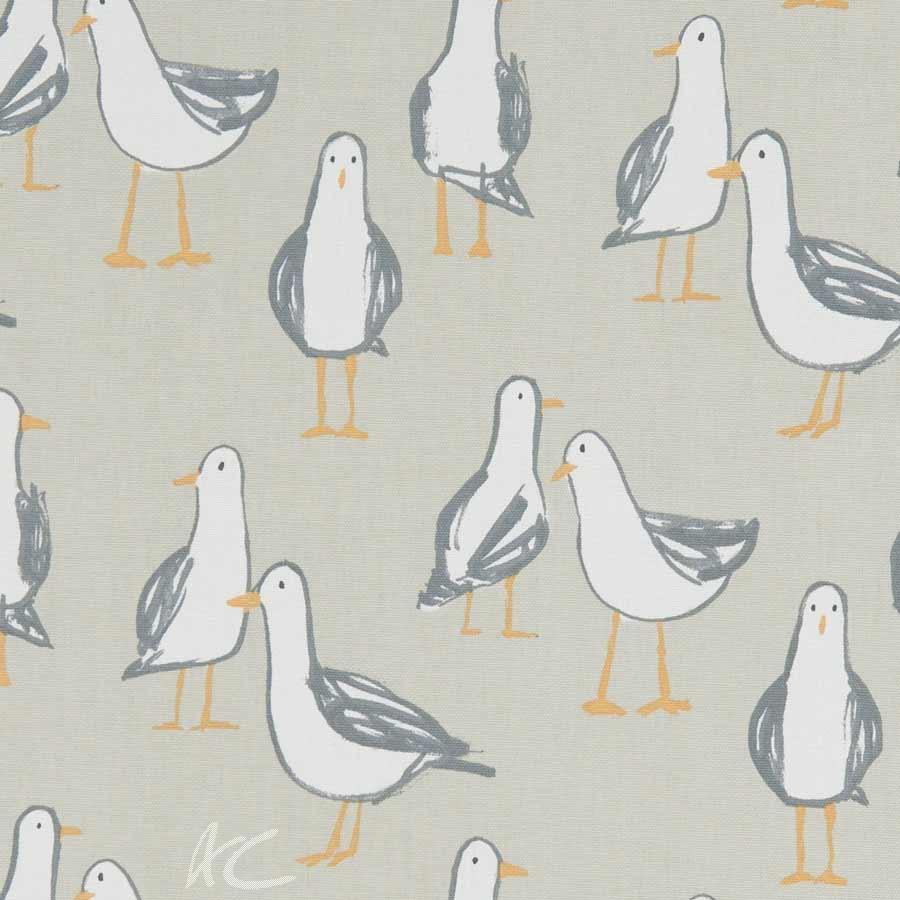 A Land and Sea Laridae Taupe Curtain Fabric